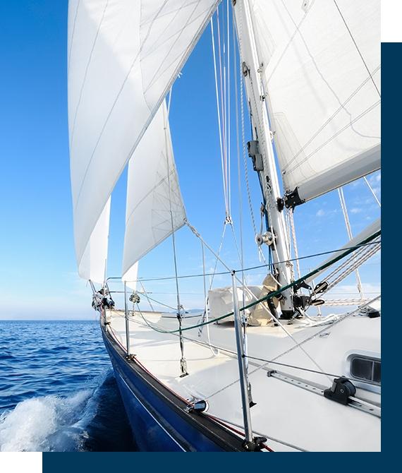 stævnen af en Yacht